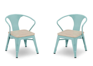 Delta Children Aqua with Driftwood (1315) Bistro Kids Play Table and Chair Set, Chairs View, d5d