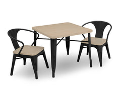 Delta Children Black with Driftwood (1312) Bistro Kids Play Table (560302), Table and Chair Right Silo a4a