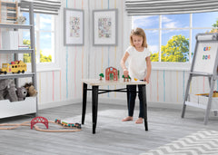 Delta Children Black with Driftwood (1312) Bistro Kids Play Table (560302), Room Shot a1a