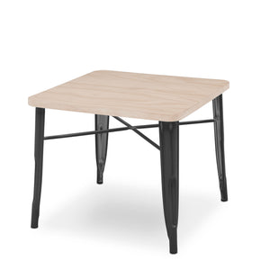 Delta Children Black with Driftwood (1312) Bistro Kids Play Table (560302), Silo a3a
