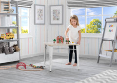 Delta Children White with Driftwood (1313) Bistro Kids Play Table (560302), Room Shot b1b