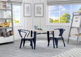 Delta Children Navy with Driftwood (1314) Bistro 2-Piece Chair Set (560301), Table and Chair c2c
