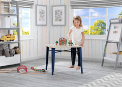 Delta Children Navy with Driftwood (1314) Bistro Kids Play Table (560302), Room Shot, c1c