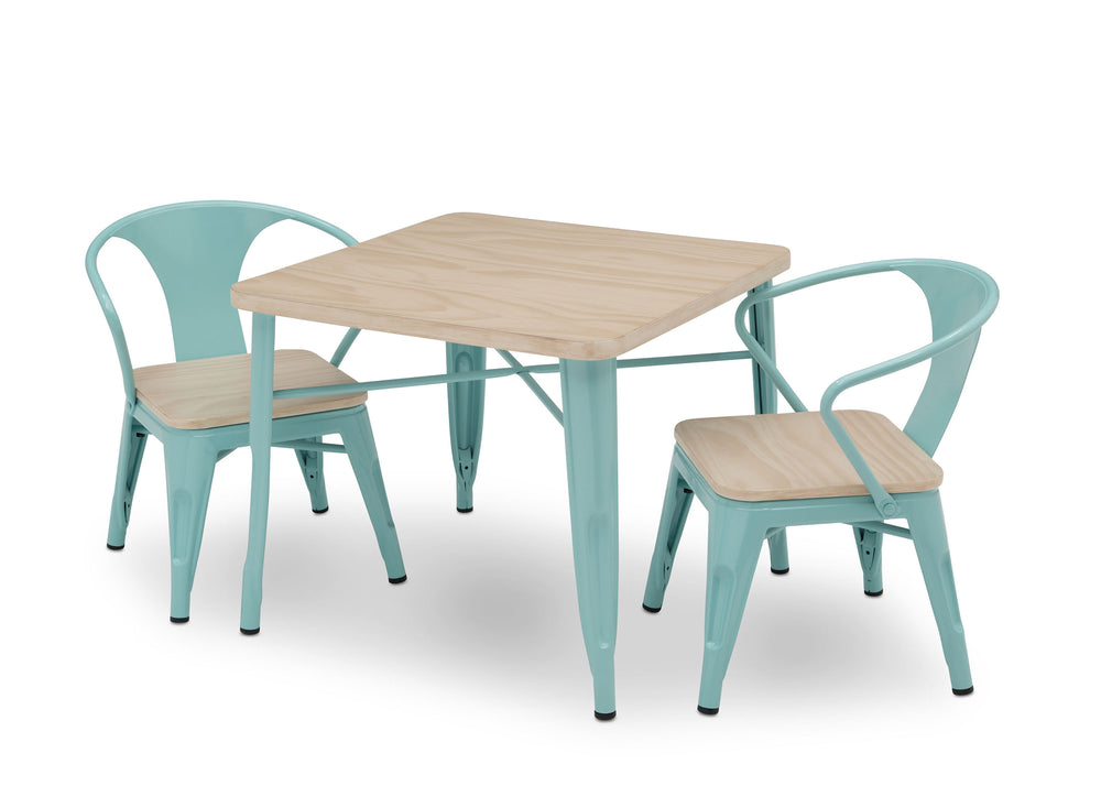 Delta Children Aqua with Driftwood (1315) Bistro 2-Piece Chair Set (560301), Table and Chair View d7d