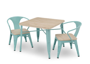 Delta Children Aqua with Driftwood (1315) Bistro Kids Play Table (560302), Table And Chair Right Silo, d4d