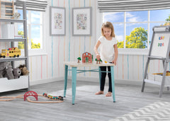 Delta Children Aqua with Driftwood (1315) Bistro Kids Play Table (560302), Room Shot, d1d