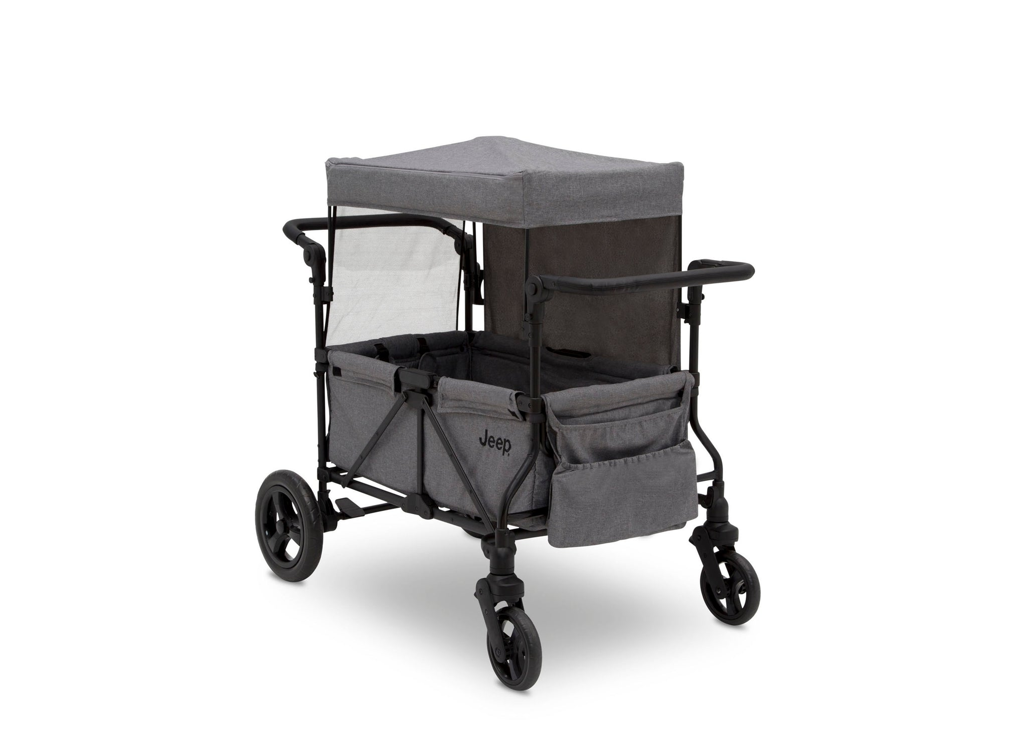 Jeep Wrangler Stroller Wagon by Delta Children, Grey (2148), Full View