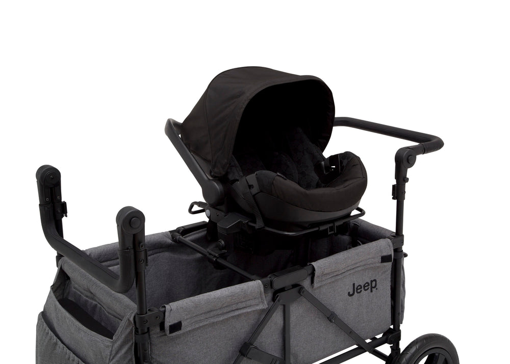 Jeep Wrangler Stroller Wagon Grey (2148), Canopy Down Close Up View