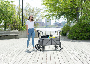 Jeep Wrangler Stroller Wagon Grey (2148), Lifestyle View 2