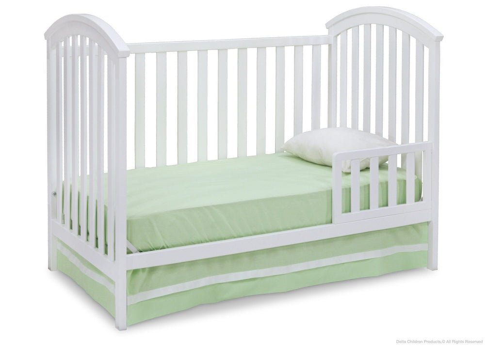Delta Children White (100) Arbour 3-in-1 Crib Toddler Bed Conversion a5a