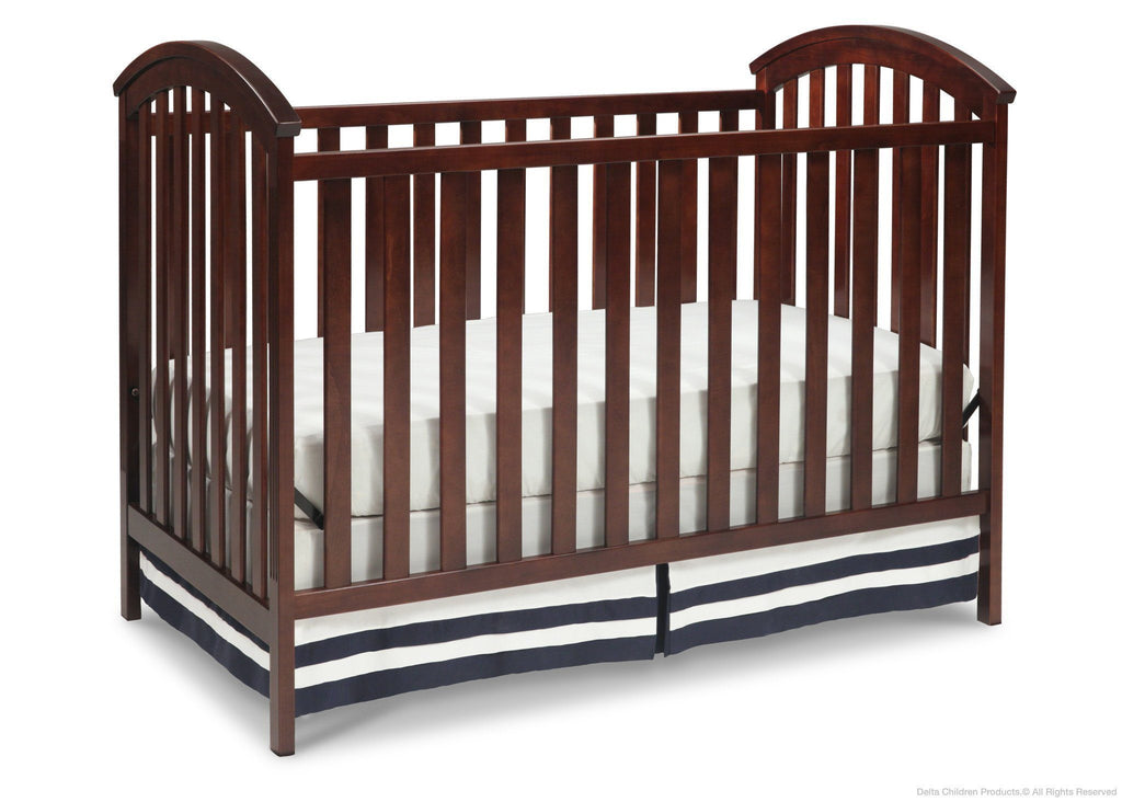 Delta Children Chocolate (204) Arbour 3-in-1 Crib side b2b
