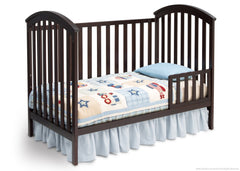 Delta Children Dark Chocolate (207) Arbour 3-in-1 Crib Todler Bed Conversion c3c