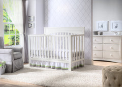 Delta Children White (100) Layla 4-in-1 Crib, Nursery View a1a