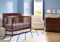 Delta Children Chocolate (204) Layla 4-in-1 Crib, Nursery View b1b