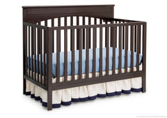 Delta Children Dark Chocolate (207) Layla 4-in-1 Crib, Crib Conversion c3c