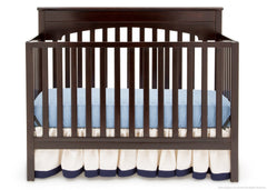 Delta Children Dark Chocolate (207) Layla 4-in-1 Crib, Crib Conversion c2c