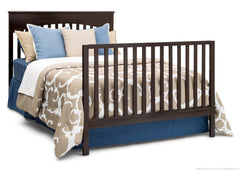 Delta Children Dark Chocolate (207) Layla 4-in-1 Crib, Full-Size Bed Conversion c6c