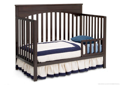 Delta Children Dark Chocolate (207) Layla 4-in-1 Crib, Toddler Bed Conversion c4c