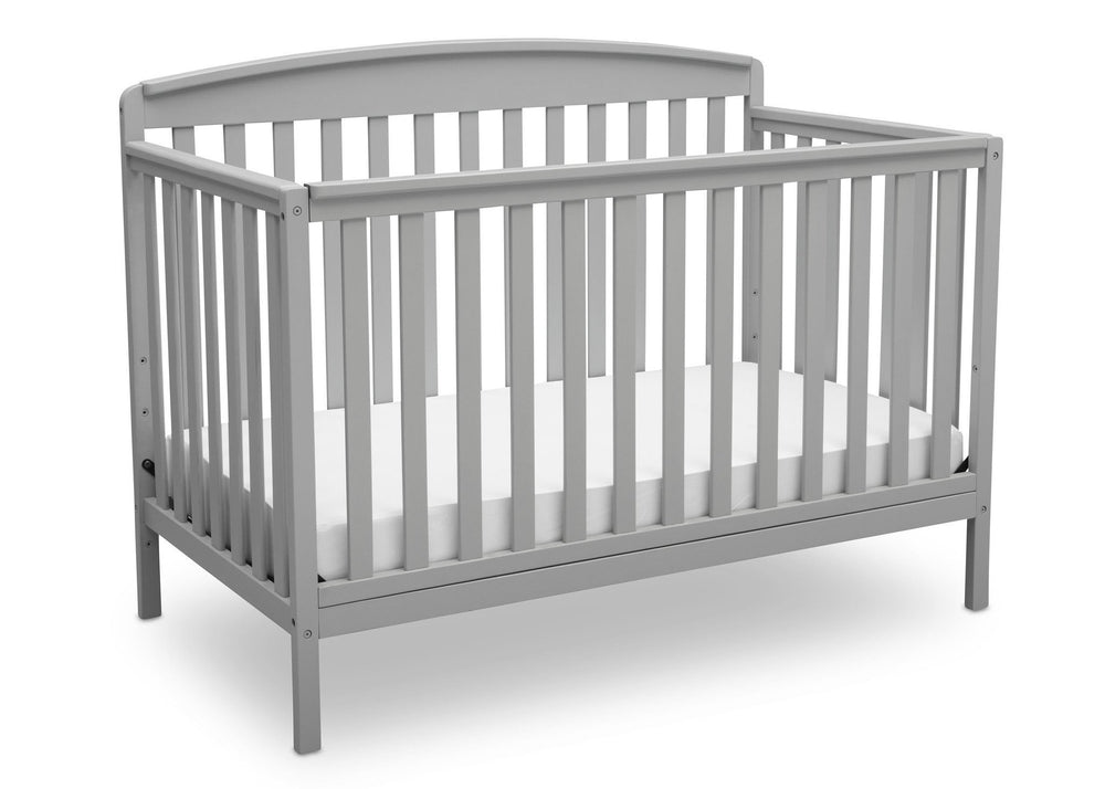 Delta Children Grey (026) Brayden 4-in-1 Crib, Angled Crib View a3a