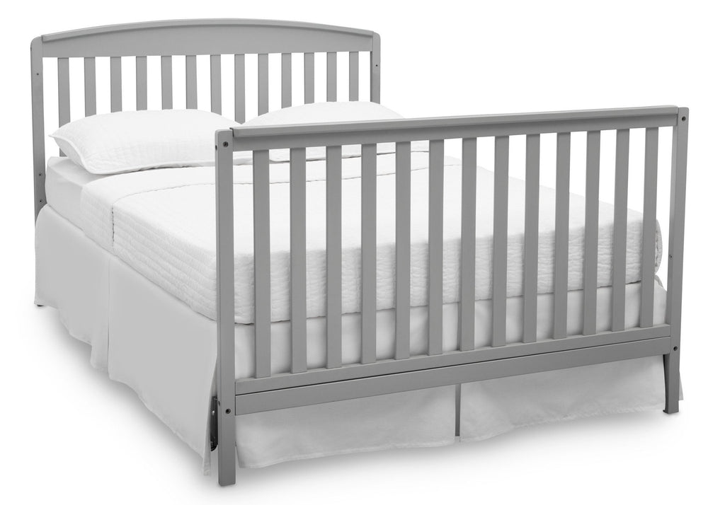 Delta Children Grey (026) Brayden 4-in-1 Crib, Full Size Bed Conversion a6a