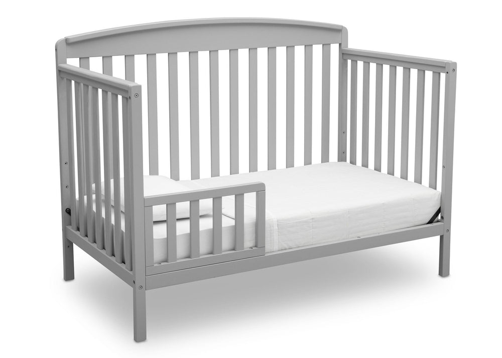 Delta Children Grey (026) Brayden 4-in-1 Crib, Toddler Bed Conversion a4a