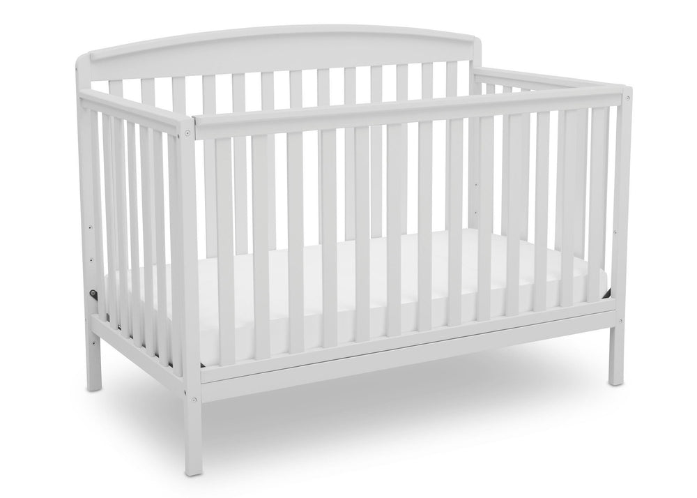 Delta Children Bianca (130) Brayden 4-in-1 Crib, Angled Crib View b3b