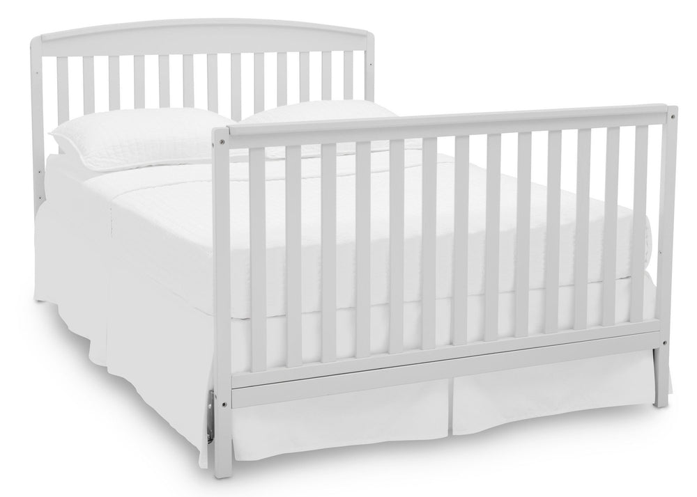 Delta Children Bianca (130) Brayden 4-in-1 Crib, Full Size Bed Conversion b6b