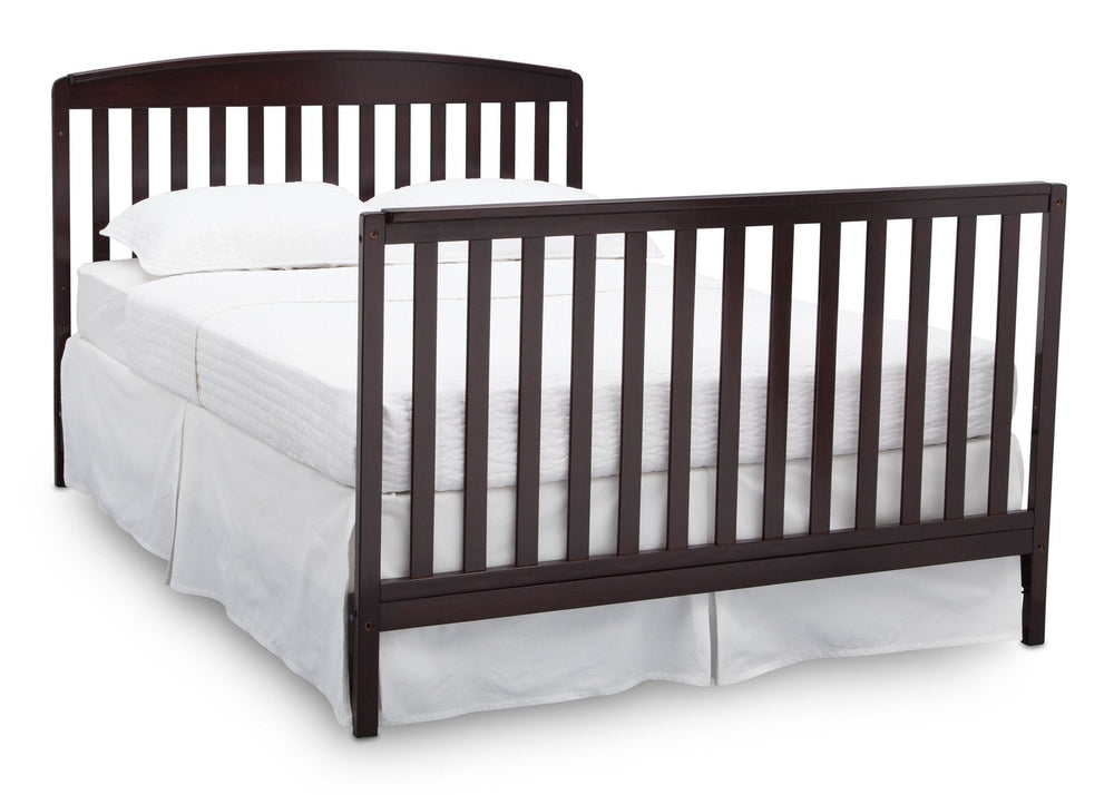 Delta Children Dark Chocolate (207) Brayden 4-in-1 Crib, Full Size Bed Conversion c7c