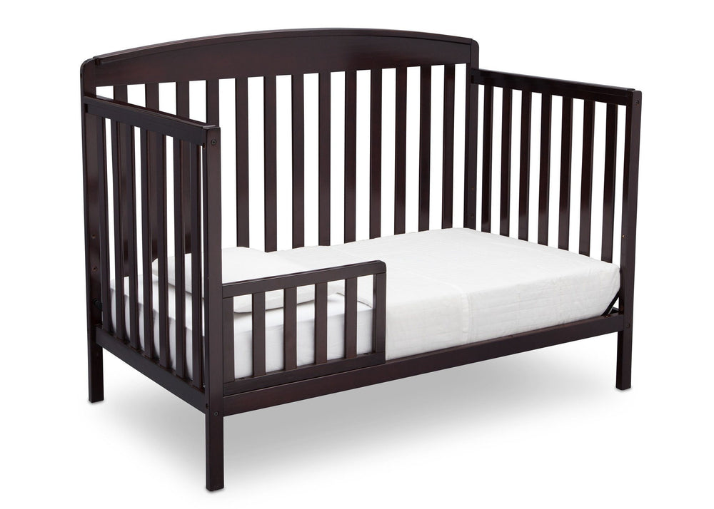 Delta Children Dark Chocolate (207) Brayden 4-in-1 Crib, Toddler Bed Conversion c5c