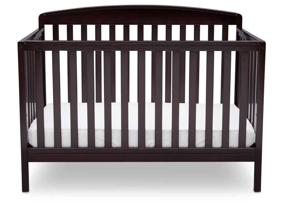 Delta Children Dark Chocolate (207) Brayden 4-in-1 Crib, Straight Crib View c2c