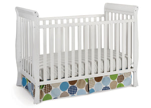 Delta Children White (100) Winter Park 3-in-1 Crib, Crib Conversion a2a