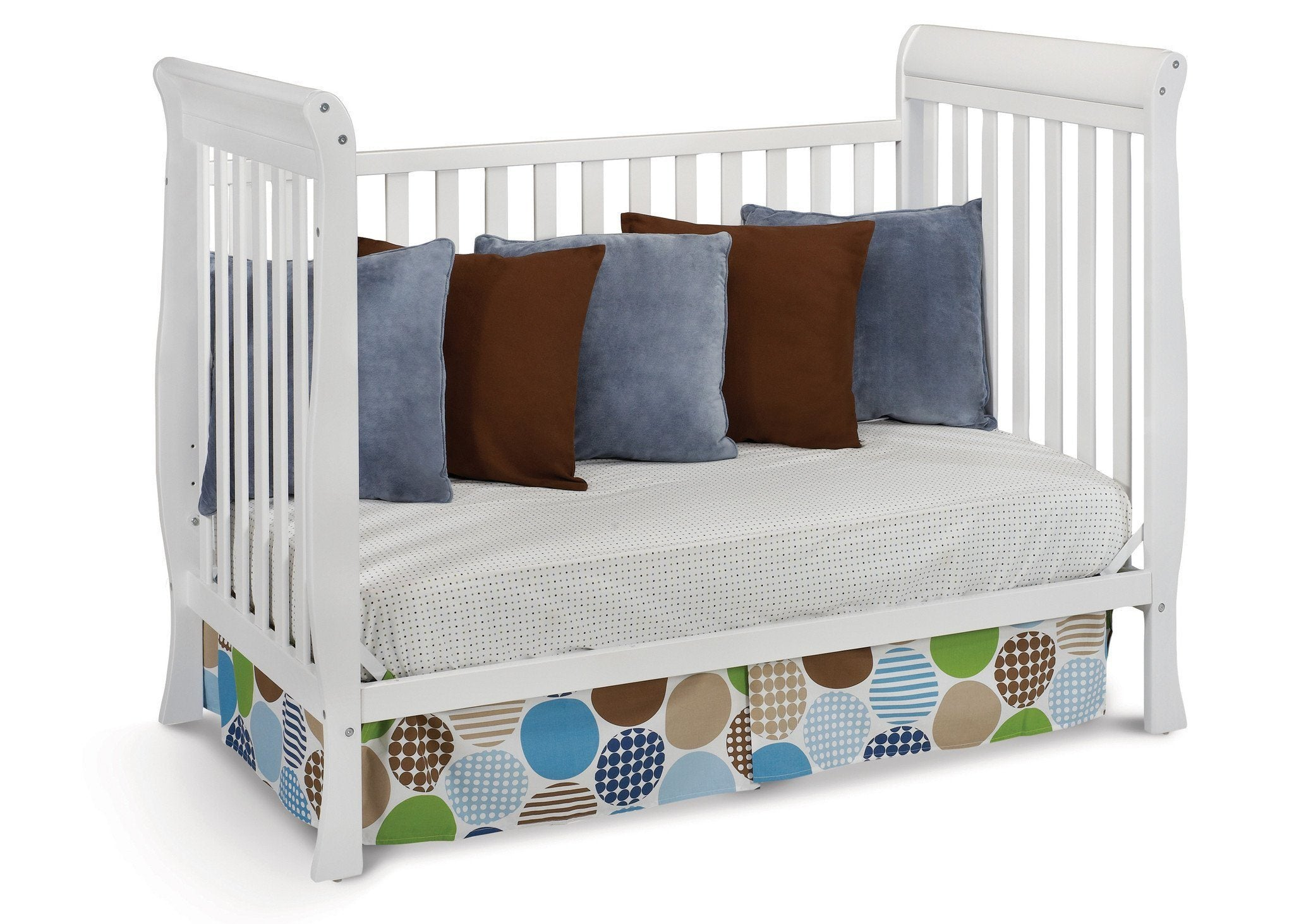 Delta Children White (100) Winter Park 3-in-1 Crib, Day Bed Conversion a4a