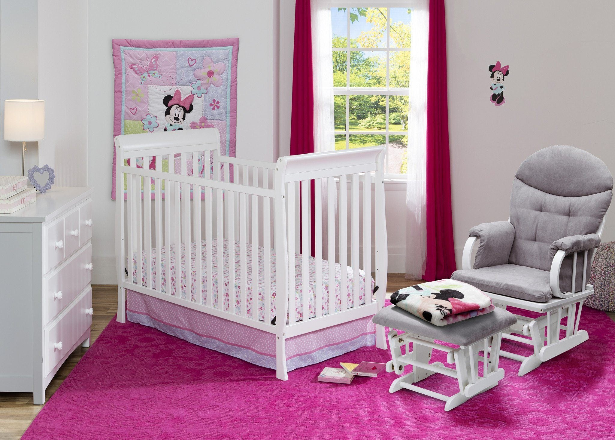 Delta Children White (100) Winter Park 3-in-1 Crib, Nursery View a1a