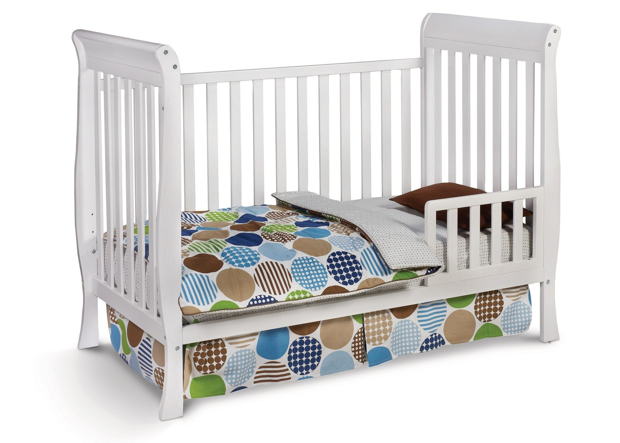Delta Children White (100) Winter Park 3-in-1 Crib, Toddler Bed Conversion a3a