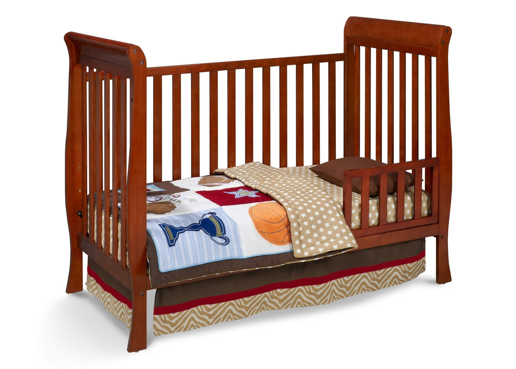 Delta Children Spiced Cinnamon (209) Winter Park 3-in-1 Crib, Toddler Bed Conversion b2b