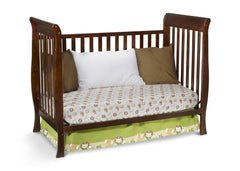 Delta Children Black Cherry Espresso (607) Winter Park 3-in-1 Crib, Day Bed Conversion c4c