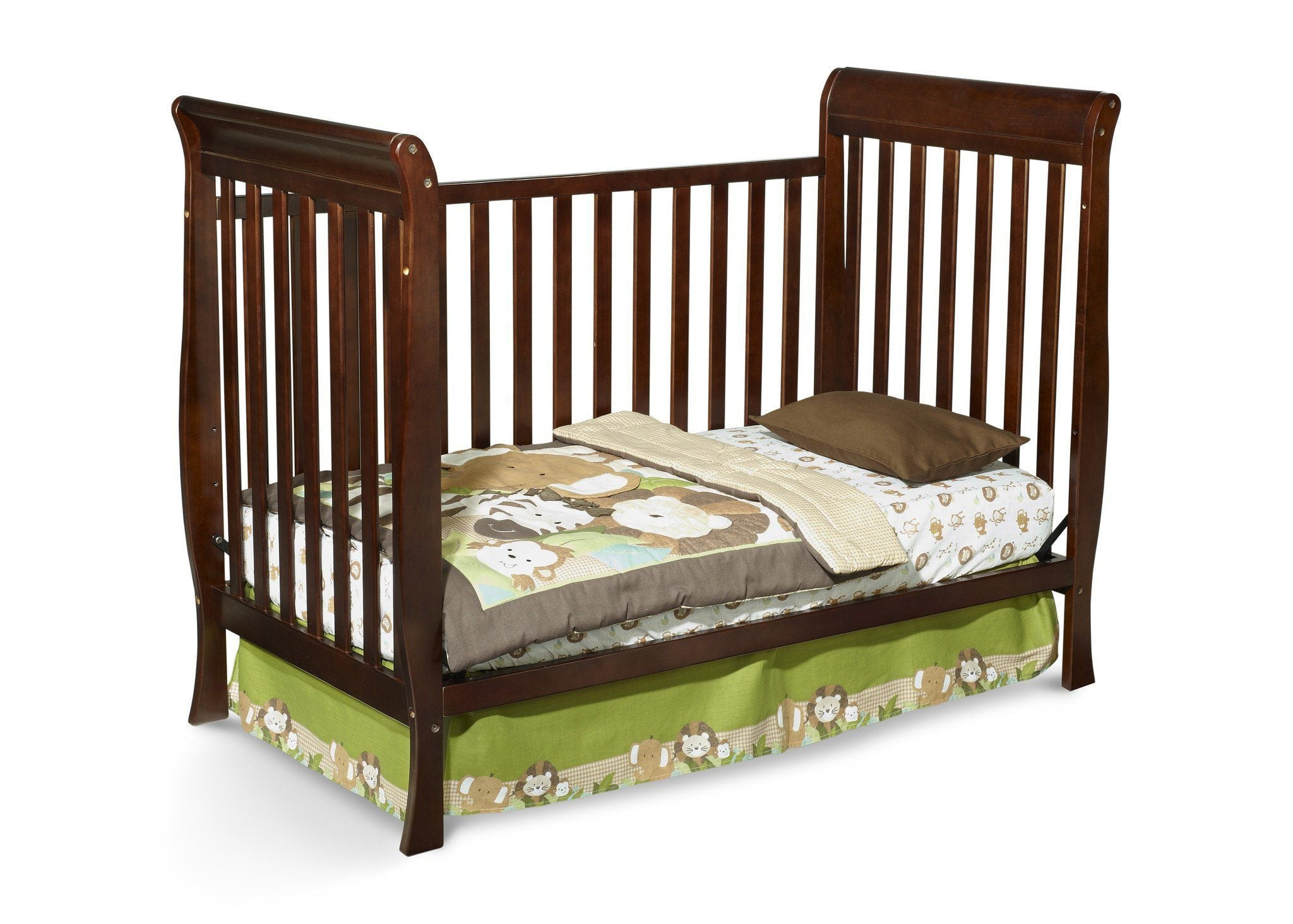 Delta Children Black Cherry Espresso (607) Winter Park 3-in-1 Crib, Toddle Bed Conversion c3c