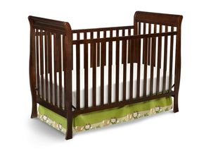 Delta Children Black Cherry Espresso (607) Winter Park 3-in-1 Crib, Crib Conversion c2c