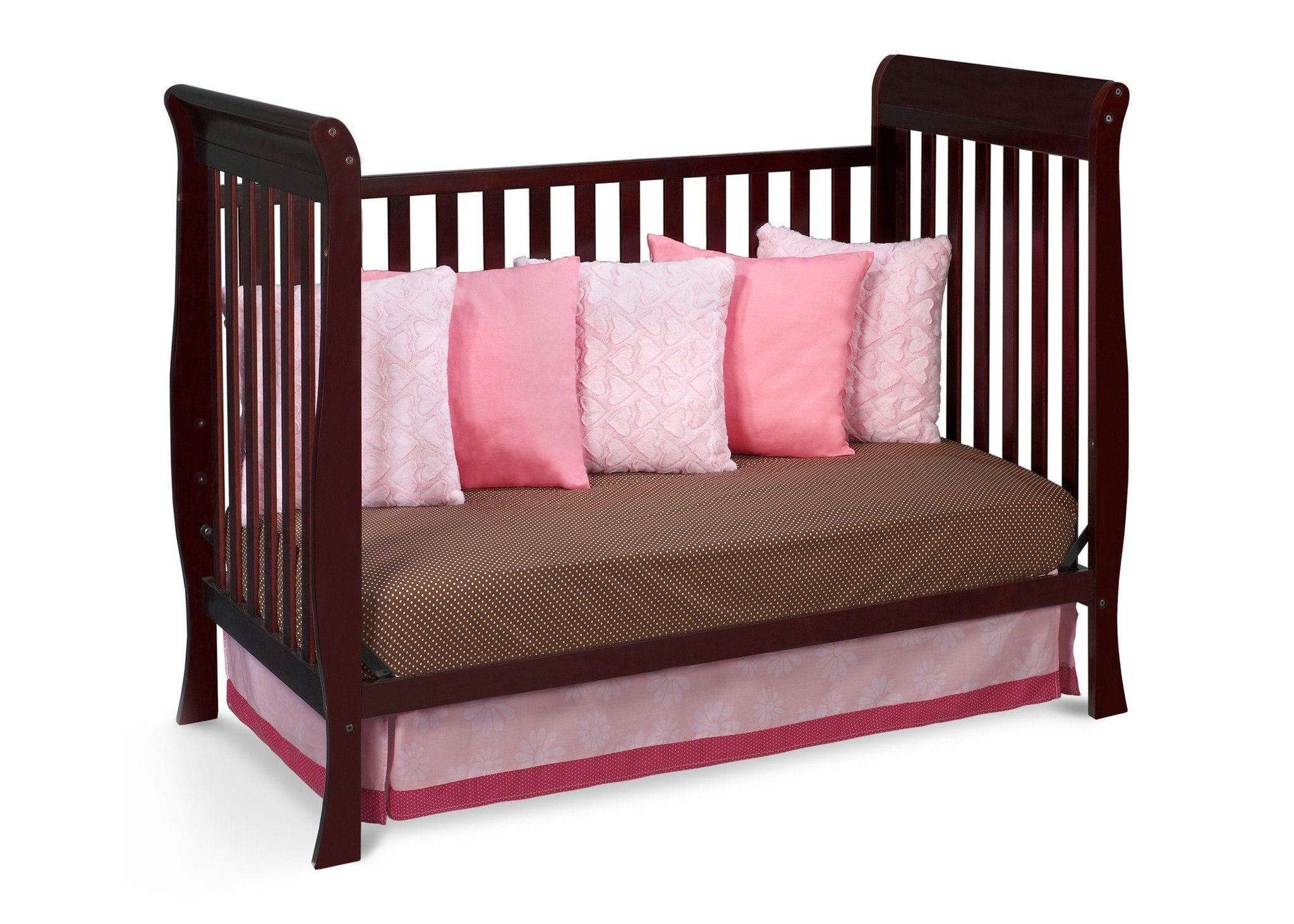 Delta Children Espresso Java (645) Winter Park 3-in-1 Crib, Day Bed Conversion d3d