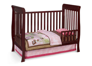 Delta Children Espresso Java (645) Winter Park 3-in-1 Crib, Toddler Bed Conversion with Toddler Guardrail d2d