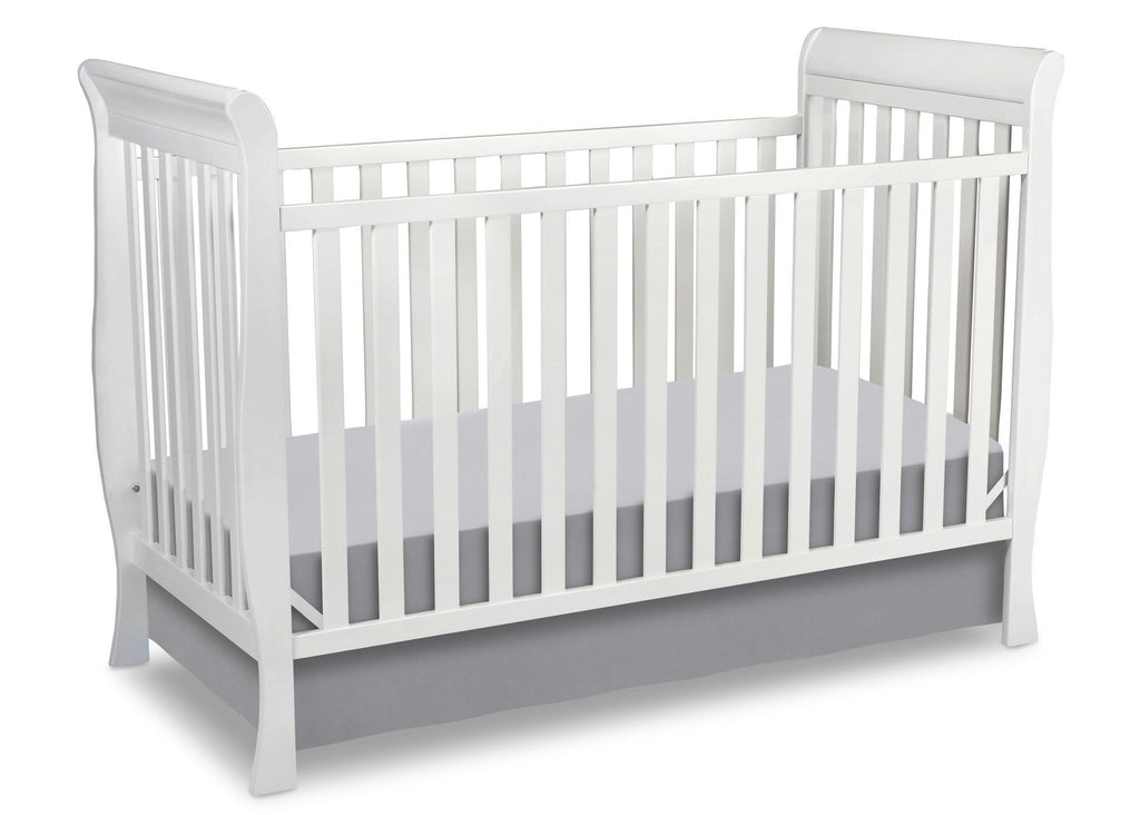 Delta Children White (100) Charleston/Glenwood 3-in-1 Crib, Crib Conversion