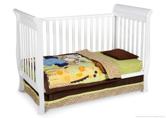 Delta Children White (100) Charleston/Glenwood 3-in-1 Crib, Toddler Bed Conversion a2a