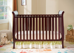 Delta Children Espresso Cherry (205) Charleston/Glenwood 3-in-1 Crib in Setting b1b