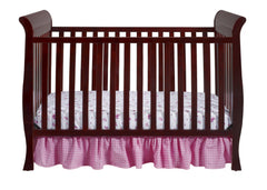 Delta Children Espresso Cherry (205) Charleston/Glenwood 3-in-1 Crib Front View, Crib Conversion b2b