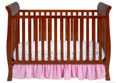 Delta Children Spiced Cinnamon (209) Charleston/Glenwood 3-in-1 Crib Front View, Crib Conversion c1c