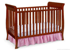 Delta Children Spiced Cinnamon (209) Charleston/Glenwood 3-in-1 Crib Side View, Crib Conversion c2c