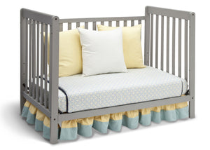 Delta Children Grey (026) Waves 3-in-1-Crib, Day Bed Conversion a4a