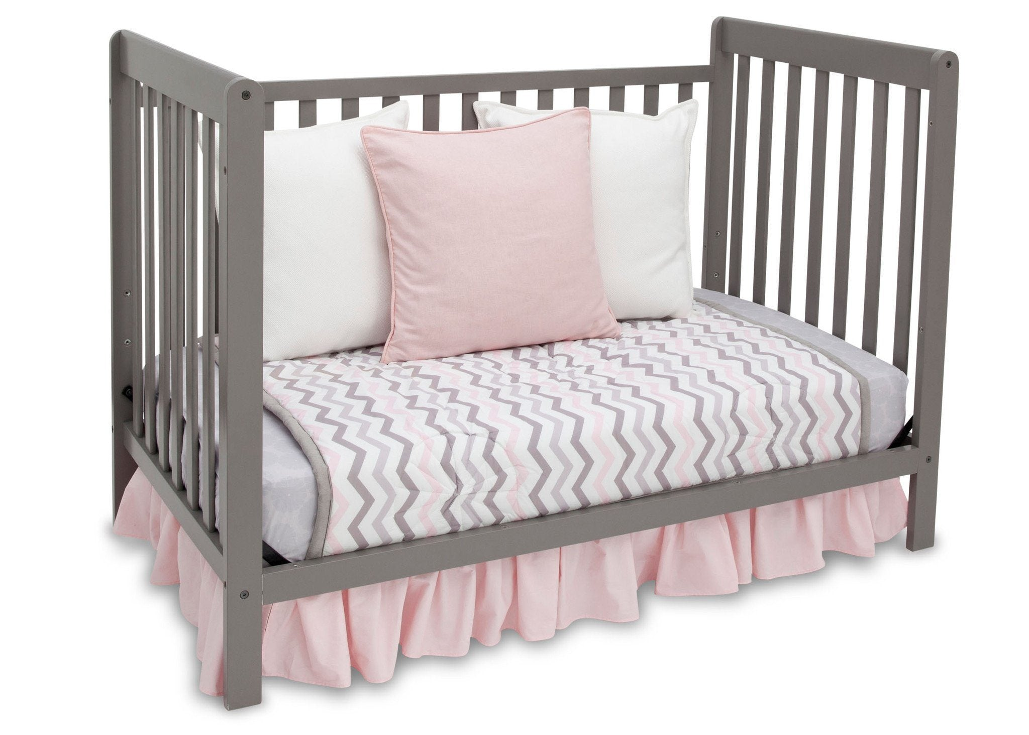 Delta Children Classic Grey (028) Waves 3-in-1-Crib, Day Bed Conversion b4b
