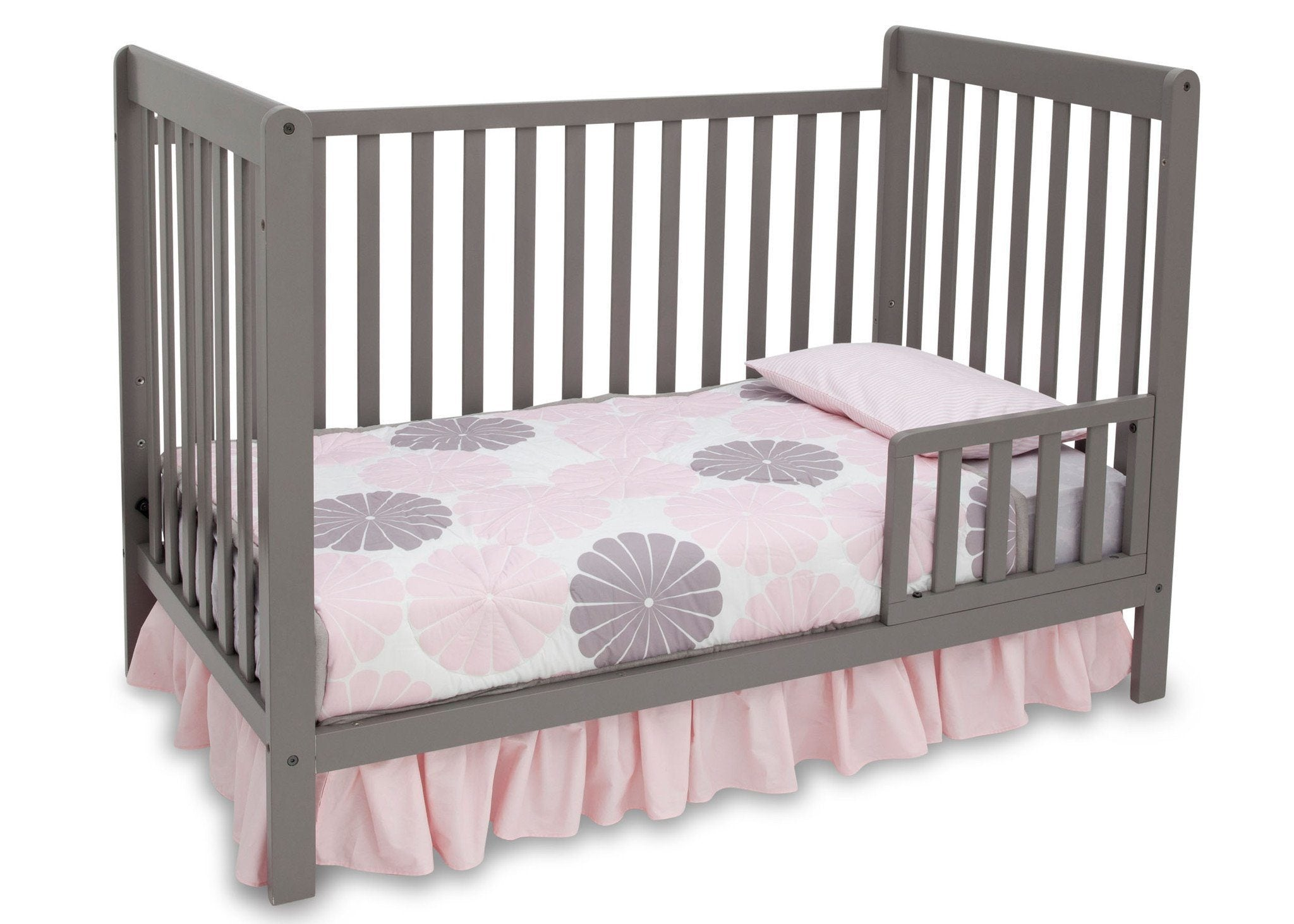 Delta Children Classic Grey (028) Waves 3-in-1-Crib, Toddler Bed Conversion b3b