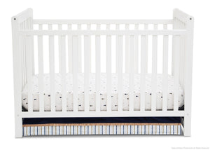 Delta Children White Ambiance (108) Waves 3-in-1-Crib, front view, d1d
